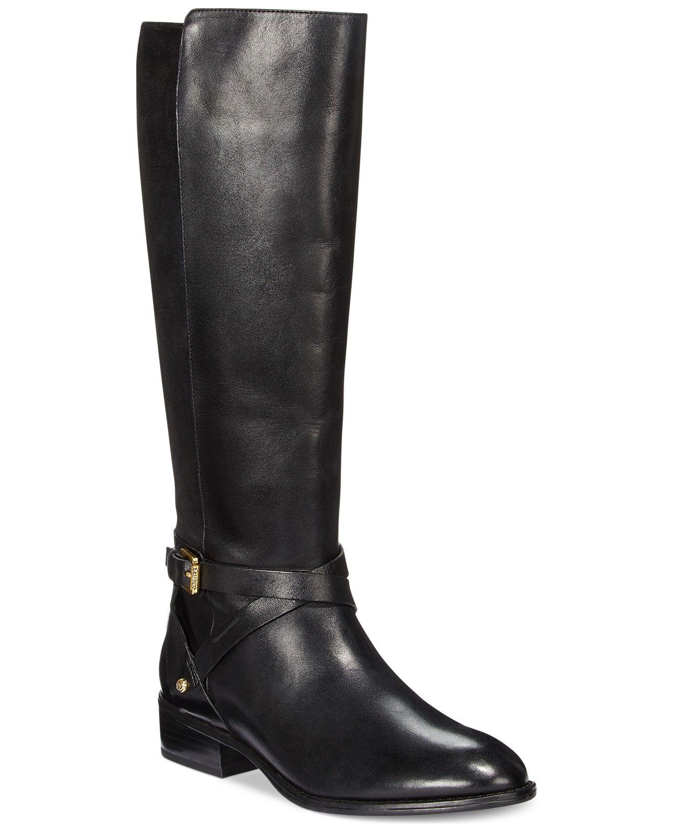 e8f0696d4e9 Lauren Ralph Lauren Mariah Wide Calf Riding Boots  179.00