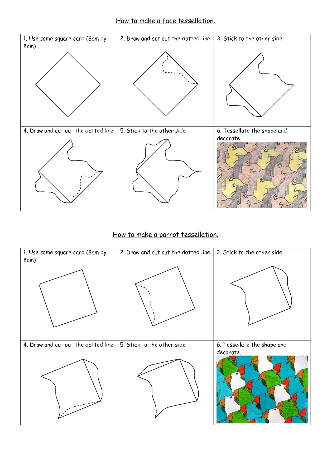 worksheet Tessellation Worksheets how to create a tessellation pattern projects search and google on pinterest