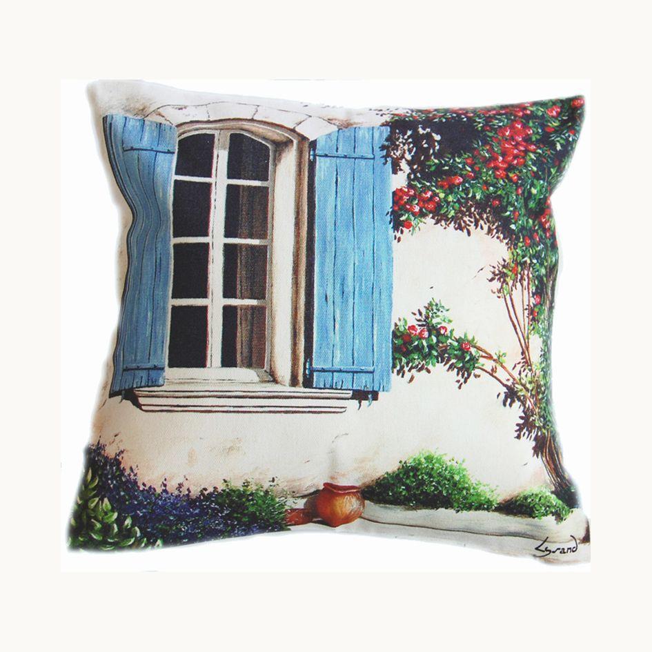 housse de coussin la porte au rosier housses de coussin lysand creations housse de coussin. Black Bedroom Furniture Sets. Home Design Ideas