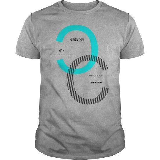 398de2853 Awesome Tee Deeper Love Deeper Life Sentence Motivational Quotes T-Shirts