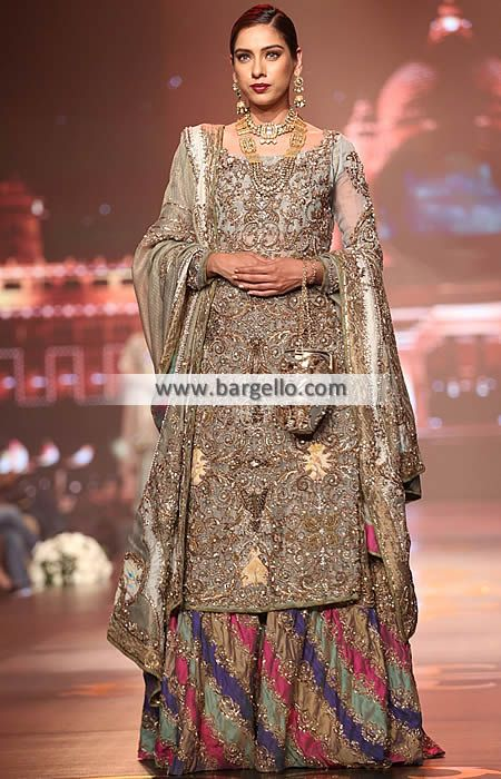 cf8fe50f8c Latest Bridal Wedding Gharara Dresses Designer Bridal Gharara Oldham ...
