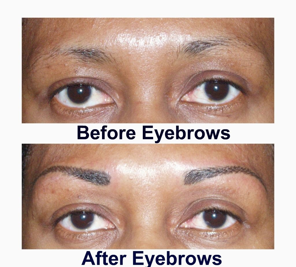 eyebrow tattoo before and after pictures permanent