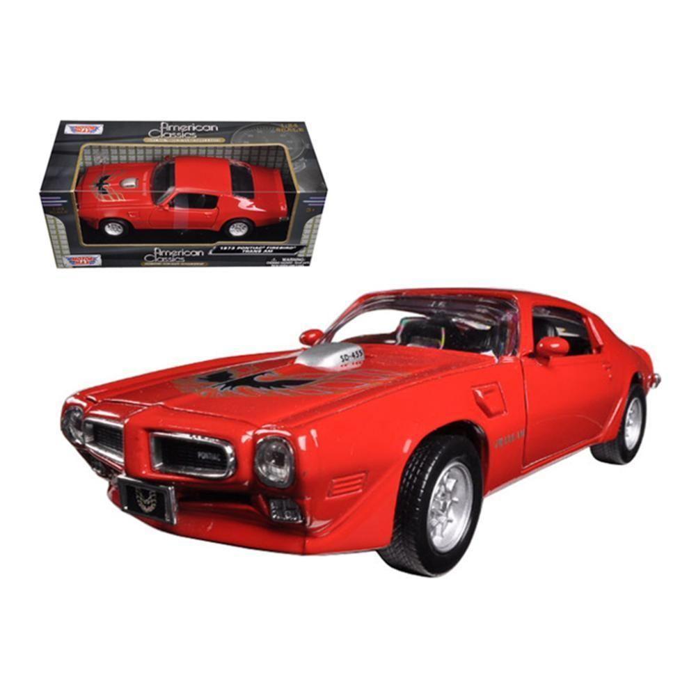 1973 Pontiac Firebird Trans Am Red 124 Diecast Model Car
