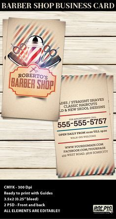 Barber Shop Business Card Template Barber Shop Card Templates - Barber business card template