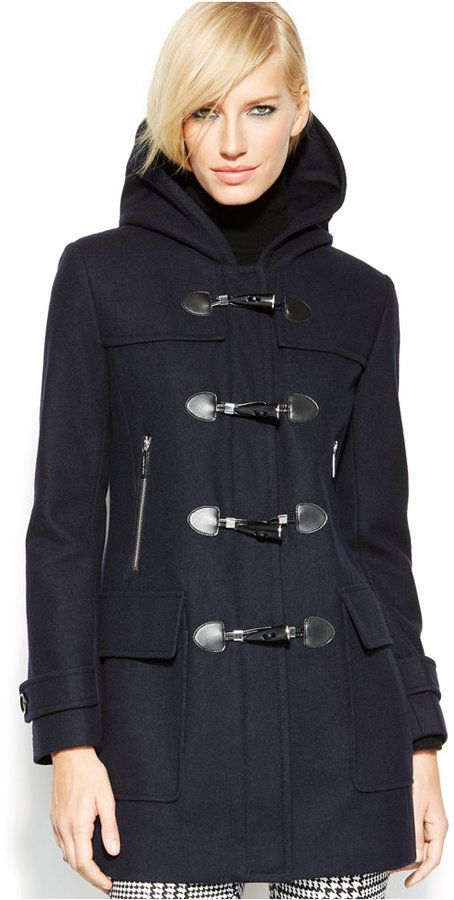 Michl Michl Kors Toggle Front Hooded Coat | Duffle coat, Michael ...