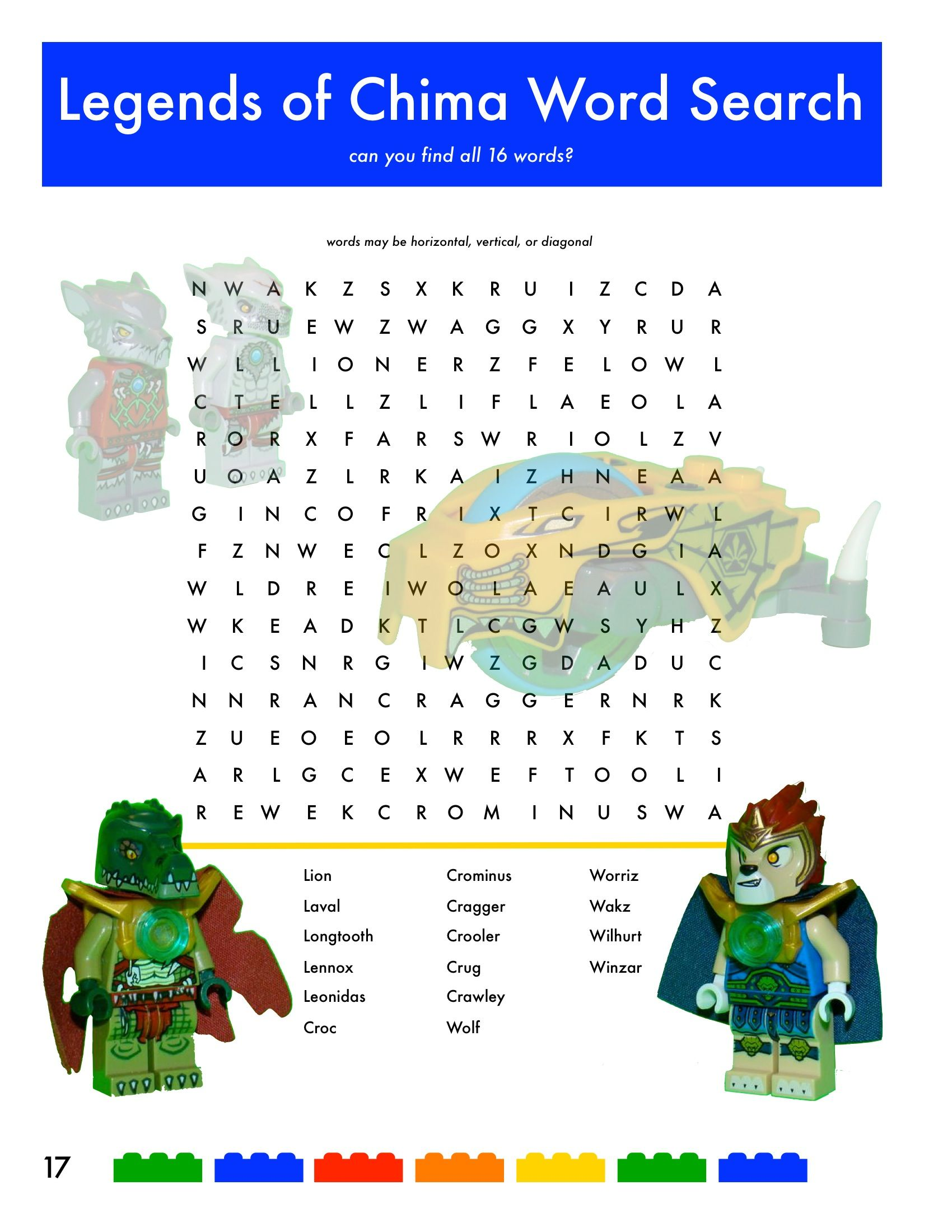 Lego Legends of Chima, Word Search. goodie bag idea. | birthday ...