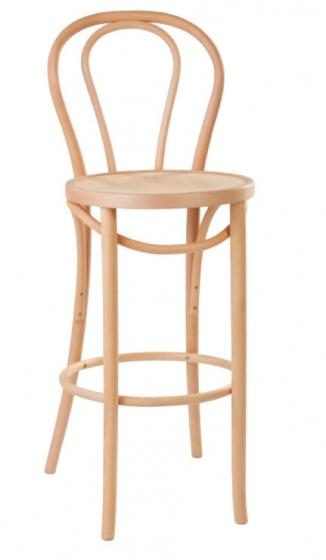 chaise haute 18 hetre bois courbe