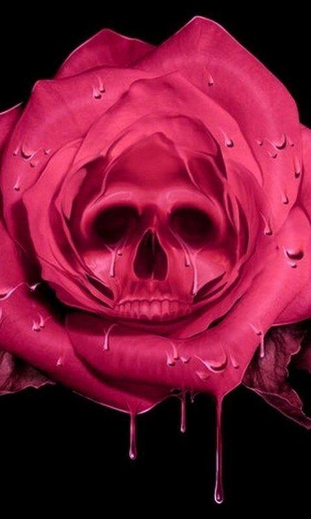Rose skull via Rocknrox