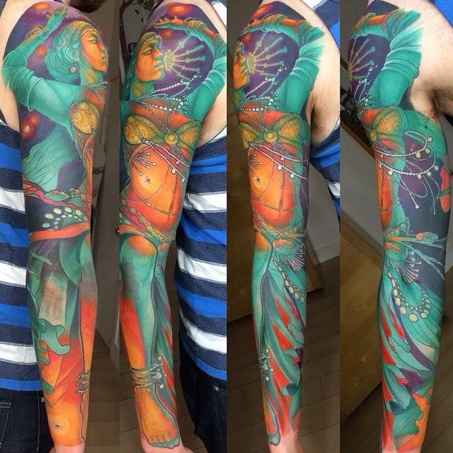 Tattoo By Steve Moore Steve Moore Sleeve Tattoos Next Level Tattoo