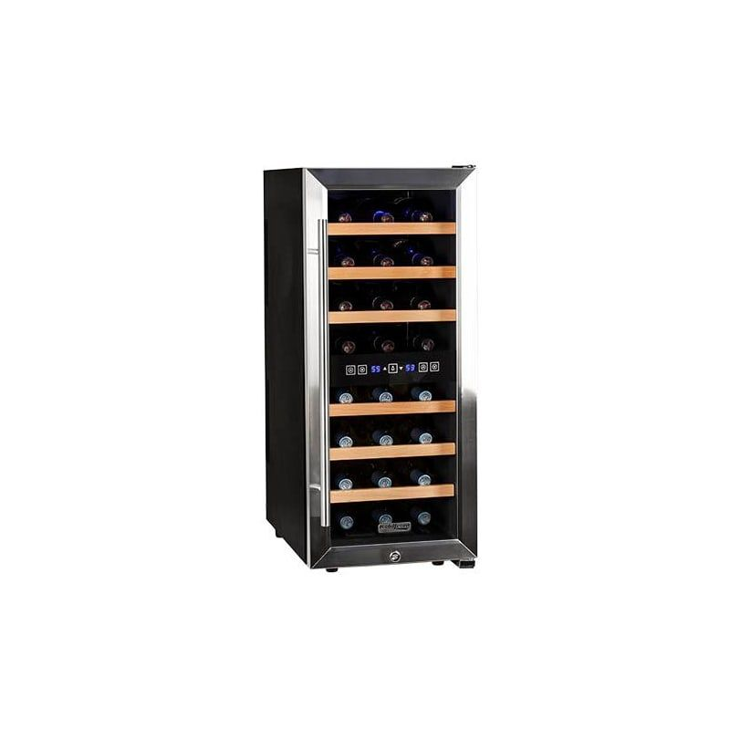 Koldfront Twr247e 14 Inch Wide 24 Bottle Wine Cooler With Dual Cooling Zones Stainless Steel Refrigerators