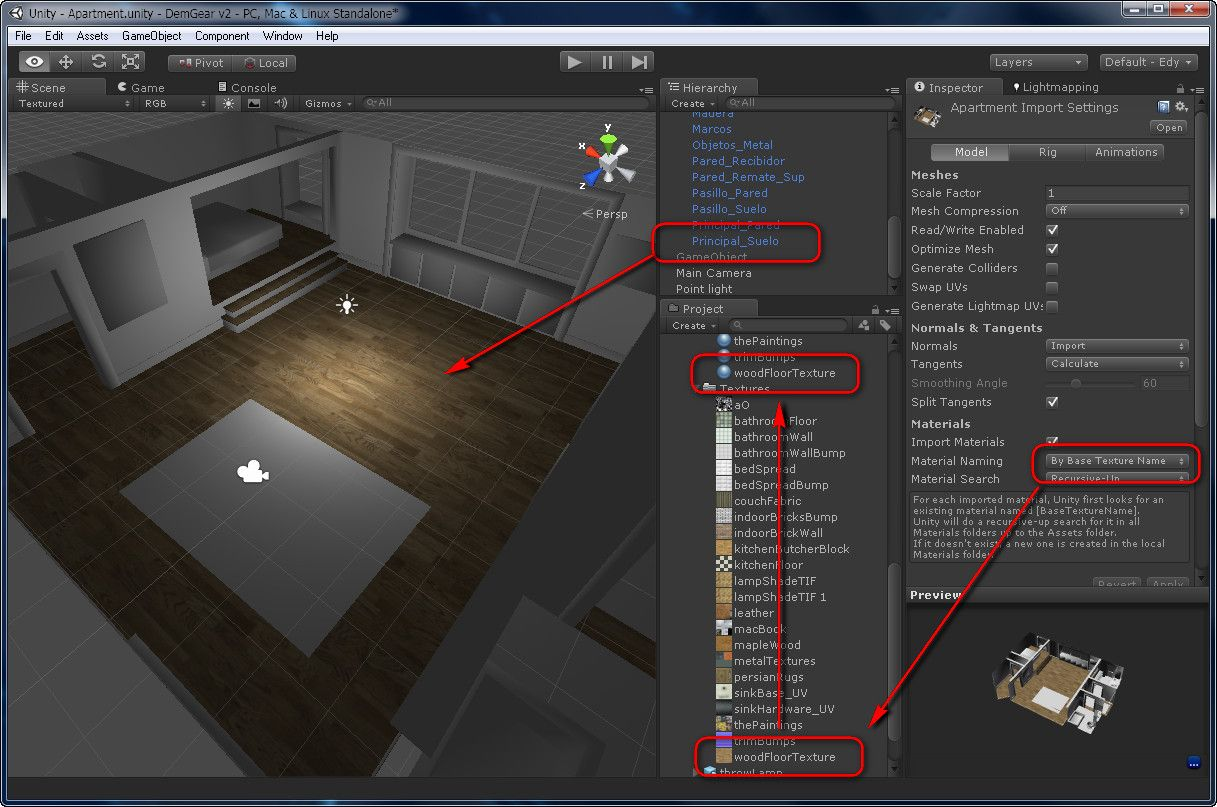 Materials and textures from Blender to Unity 3D Unity