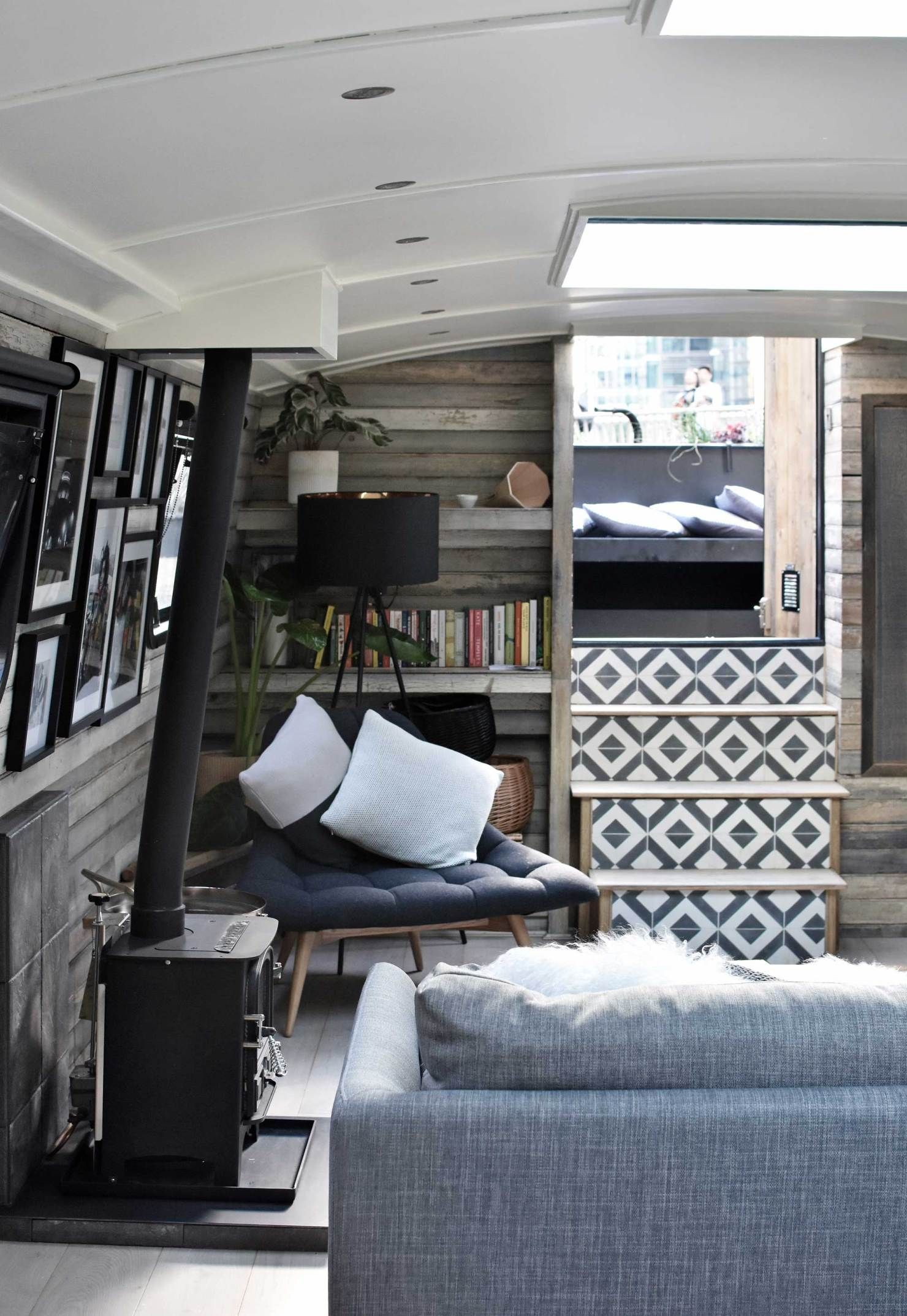 Photo of A surprise stay aboard a stylish London houseboat | These Four Walls