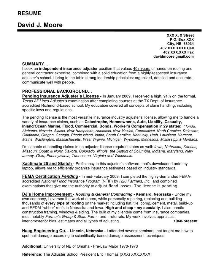 sample resume for fema job