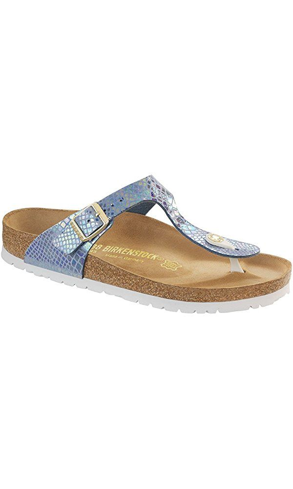 d113f1ef0e62a5 Birkenstock Women s Gizeh Sandal Shiny Snake Sky Birko-Flor Size 36 M EU  Best Price