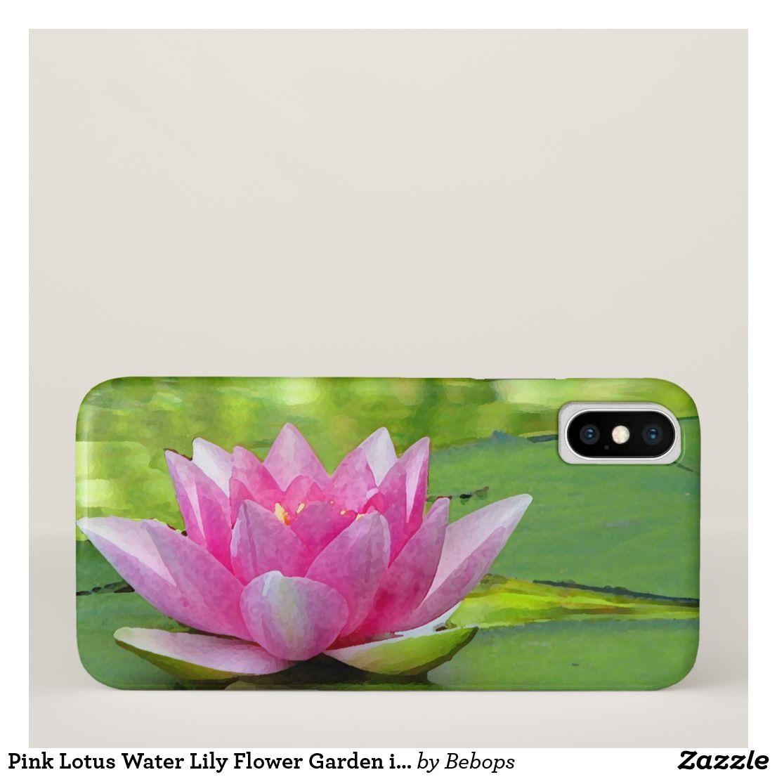Pink lotus water lily flower garden iphone x case new stuff on pink lotus water lily flower garden iphone x case izmirmasajfo