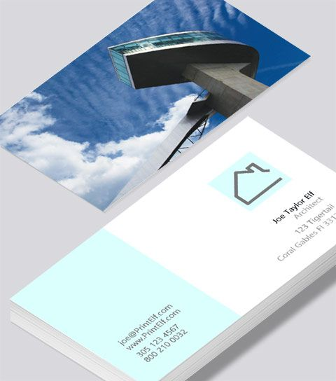 Modern Contemporary Business Card Design Architect Business Card