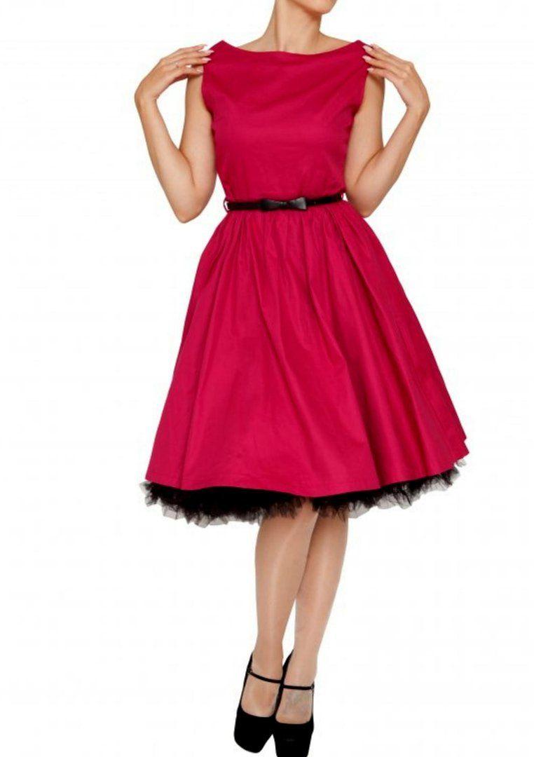 Lindy Bop 50er Jahre Rockabilly Vintage Petticoat Kleid - Audrey ...