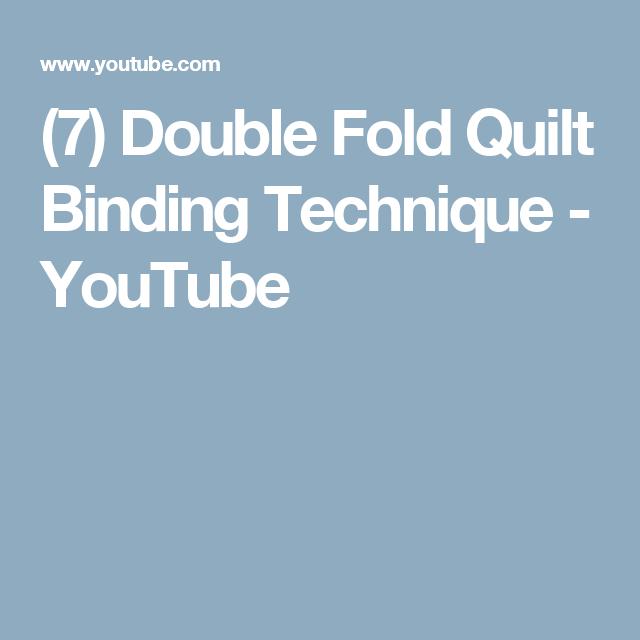 (7) Double Fold Quilt Binding Technique