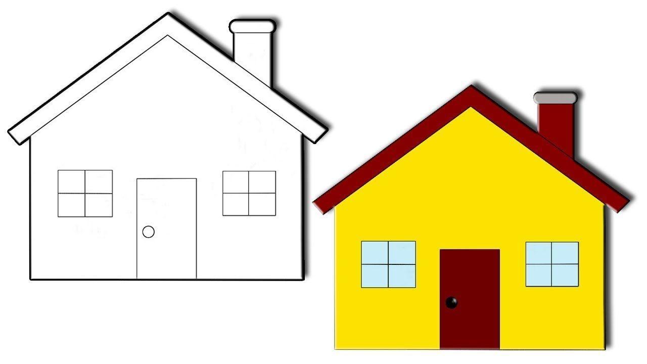 تعليم الرسم للاطفال رسم بيت للاطفال رسم منزل سهل جميل جدا Holiday Decor Decor Mirror