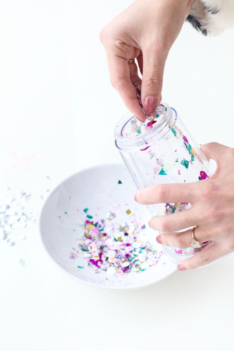 Diy floating glitter tumbler glitter tumbler glitter