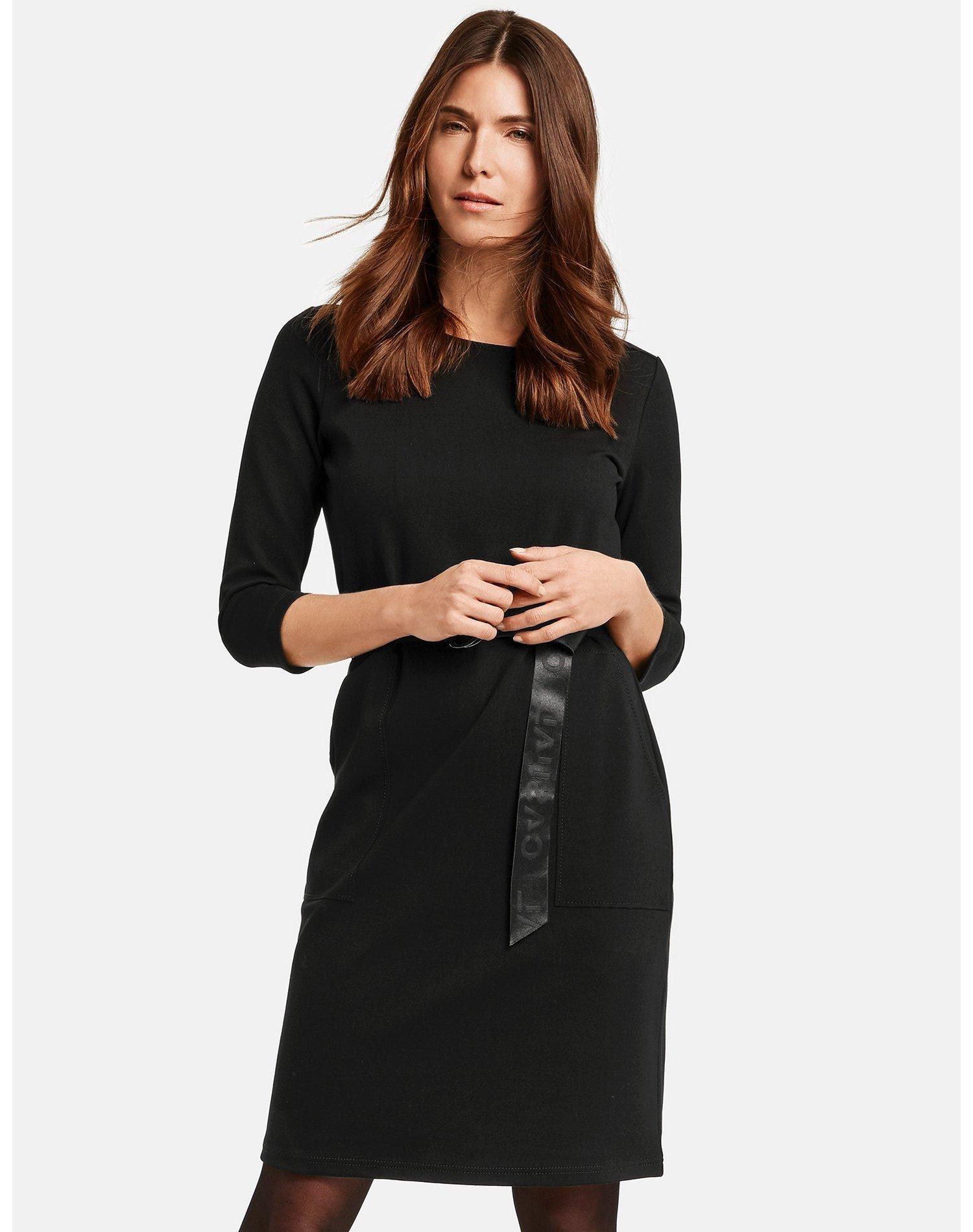 kleid gewirke jerseykleid gürtel das kleid 3/4 langem arm
