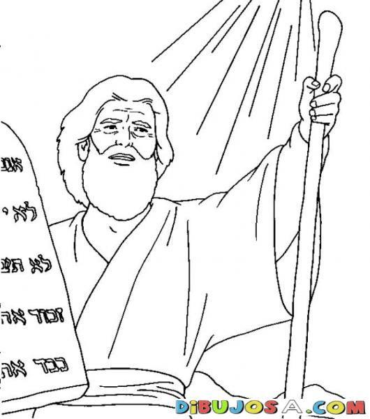 Moises y los mandamientos | COLOREAR BIBLICOS | Dibujo para Colorear ...