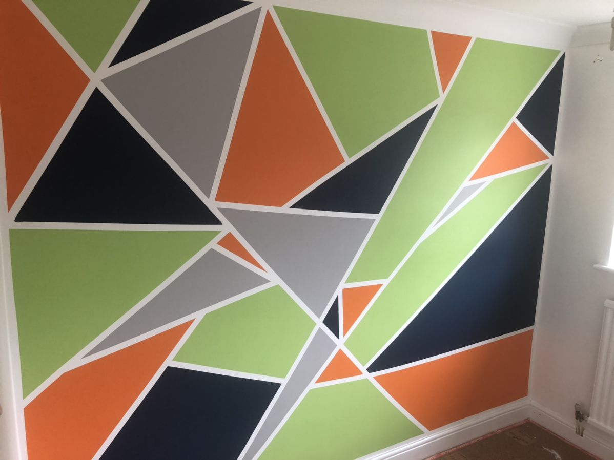 Geometric Wall Painting Geometric Wall Geometric Wall Paint Wall Painting