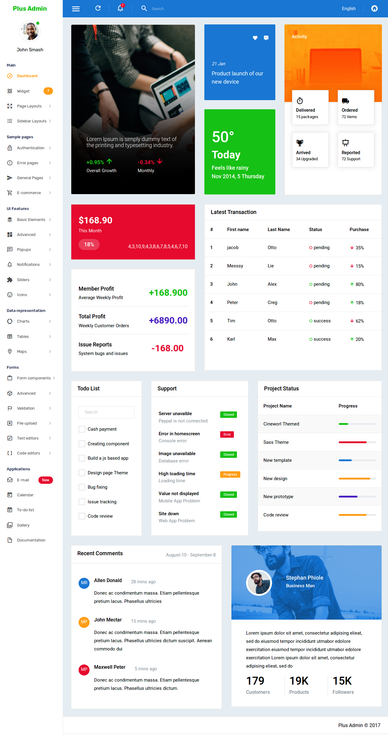 "Check out my @Behance project: ""Plus – Bootstrap Admin Template ..."