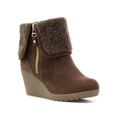 b6ddac4e46 Lilley Womens Brown Wedge Ankle Boot   SHOE ZONE  AW16 Preview ...
