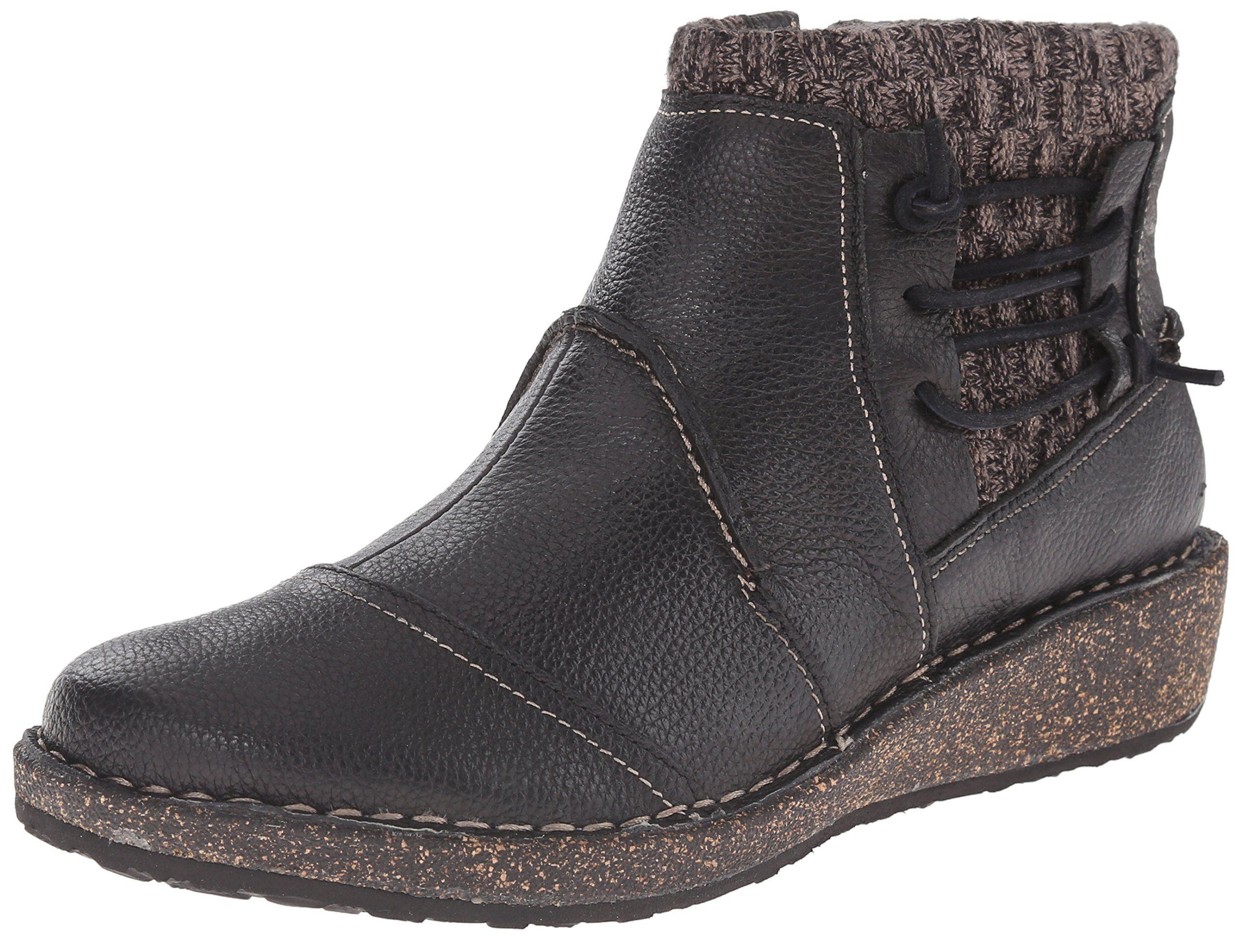 fb8577e0f8411 Aetrex Women's Tessa Short Sweater Boot, Black, 41 EU/10 M US. Heel ...