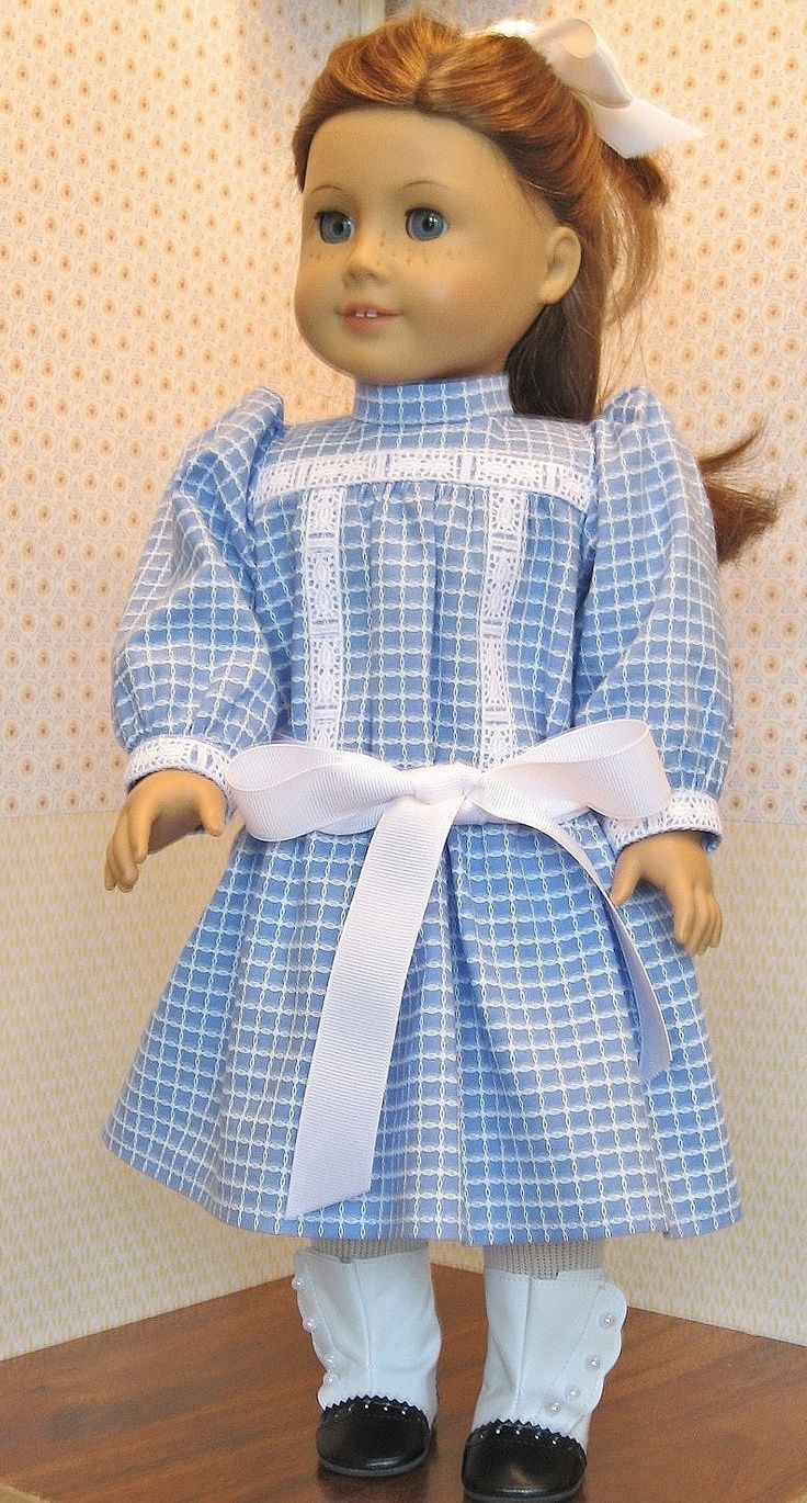 dress and pinafore for american girl doll samantha girl doll 18 doll ...