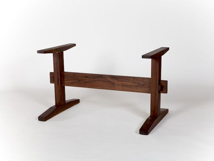 Trestle table base the most popular style of table base for Pedestal trestle dining table plans