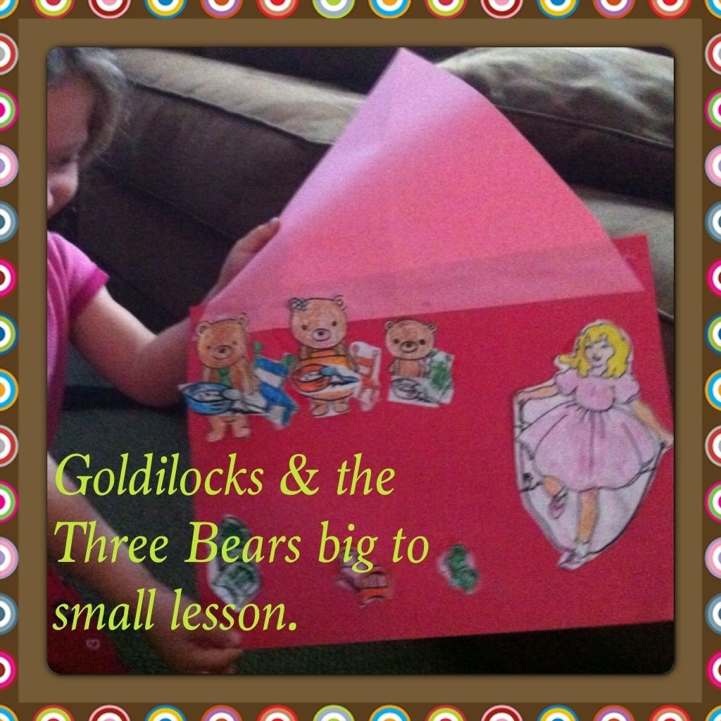 Goldilocks And The Three Bears Lesson Big To Small