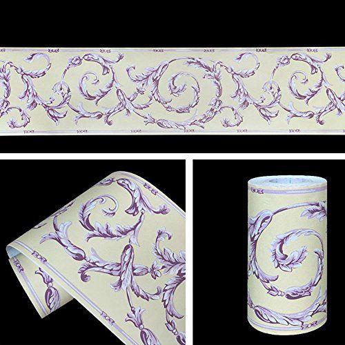 SimpleLife4U Purple Vine Wallpaper Border Self Adhesive W