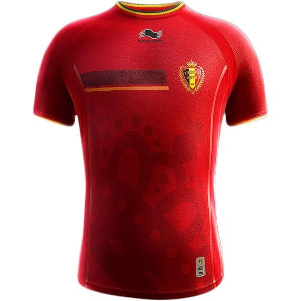 Burrda Belgium 2014 World Cup Home Soccer Jersey