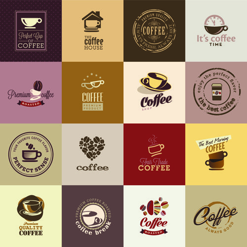 Retro coffee logos creative design vector Логотип кофе