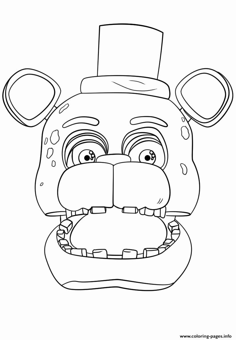 Five Nights At Freddys Coloring Page New Nightmare Five Nights At Fred S Free Coloring Pages In 2020 Fnaf Coloring Pages Coloring Pages Coloring Books