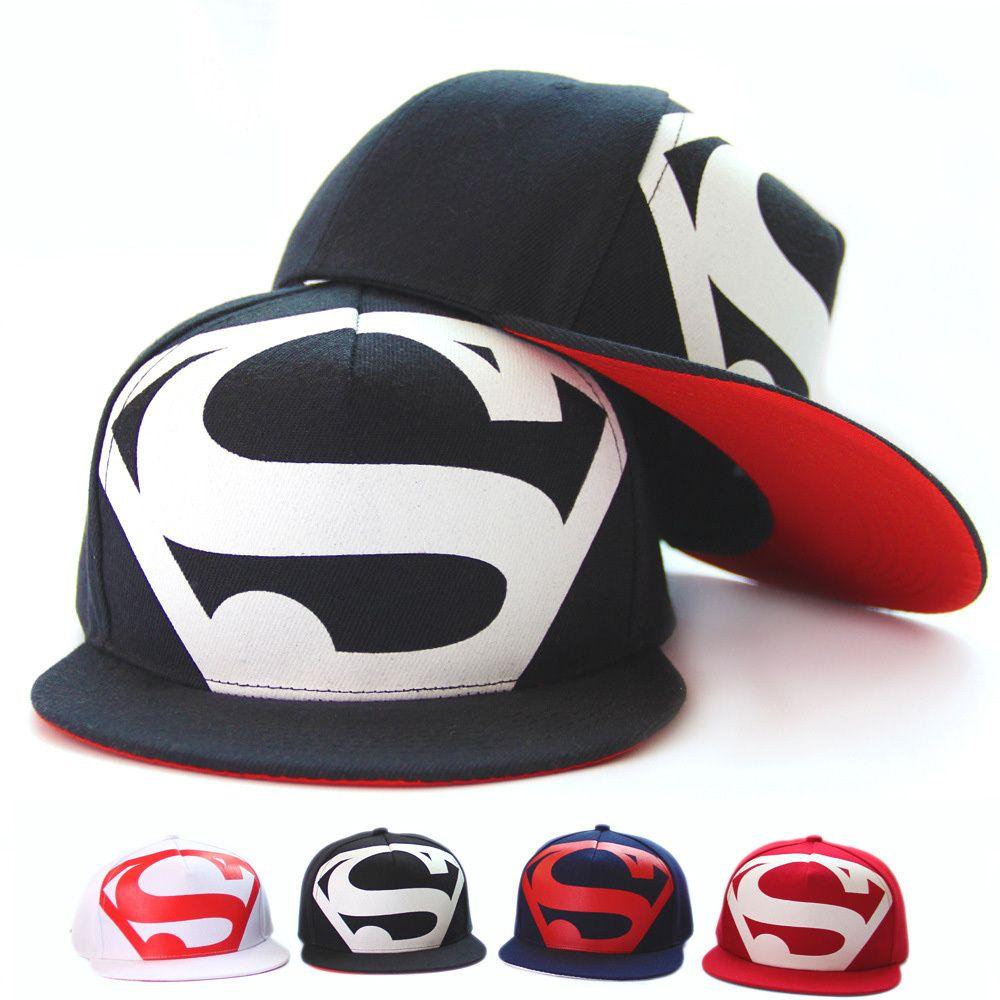 Encontrar Más Gorras de béisbol Información acerca de Caliente! nuevo llega  la moda Hip Hop Superman Snapback capsula los sombreros para hombres  mujeres ... 6ee75a4bec2