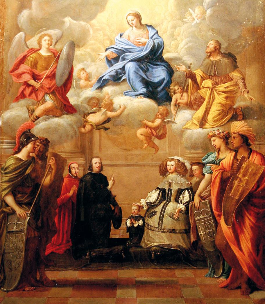 """Philip IV,Mariana de Austria,Infante Philip Prosper and Pascual de Aragon (Pietro del Po"""""""