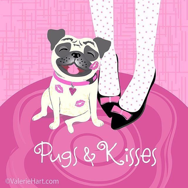 Embedded Pug Cartoon Pugs Kisses Pug Love