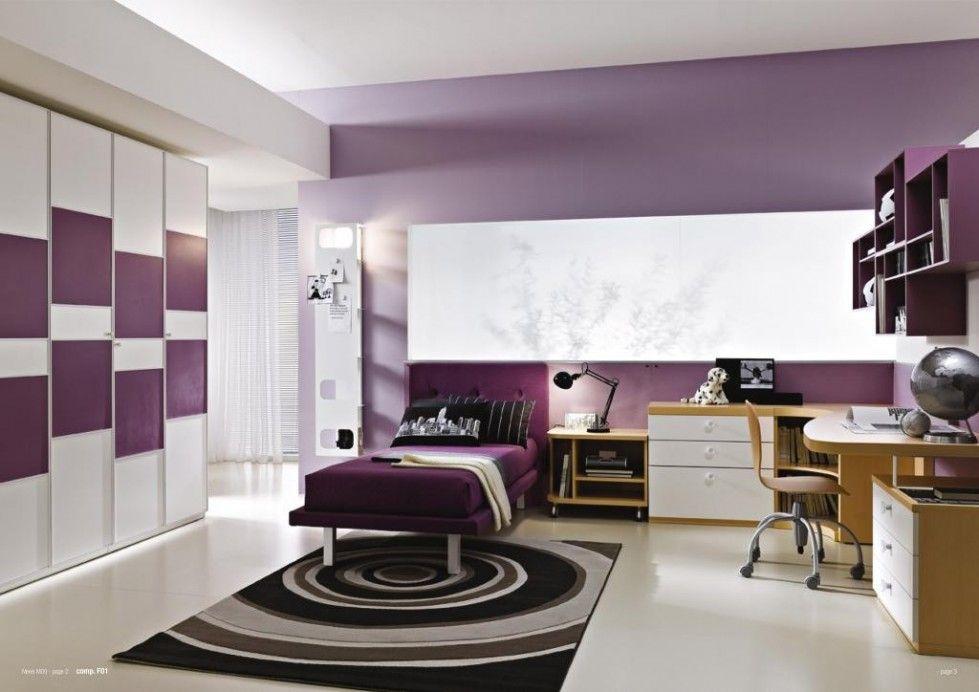 Cameretta Viola ~ Colori giusti per imbiancare la casa cameretta con pareti viola