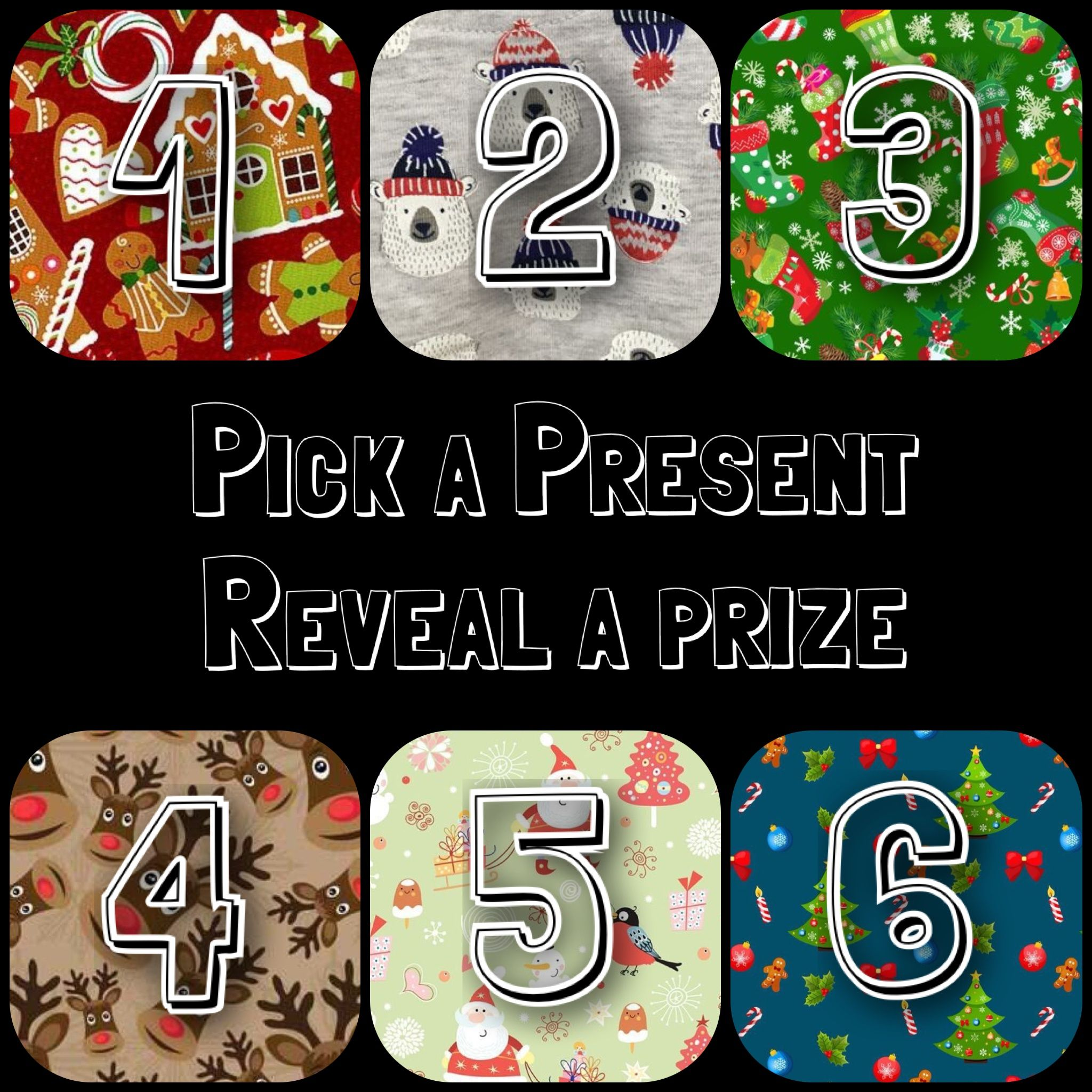 Pick a number Choose a present online Facebook game Raffle