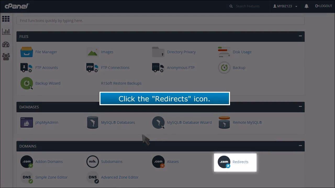 Creating a Domain Redirect in cPanel Cpanel, Domain, Web