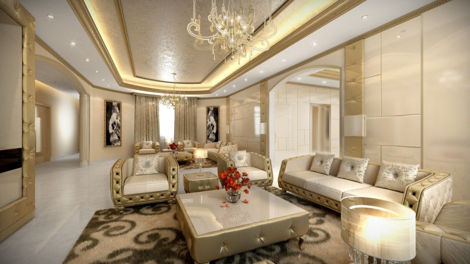 Suwaidi Private Residence Aristo Interior Design Luxury Living Room Dubai My Dubai