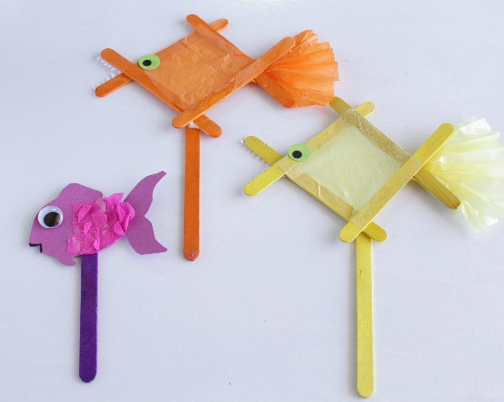 How To Make A Popsicle Stick Fish Stop Motion Craft Stick