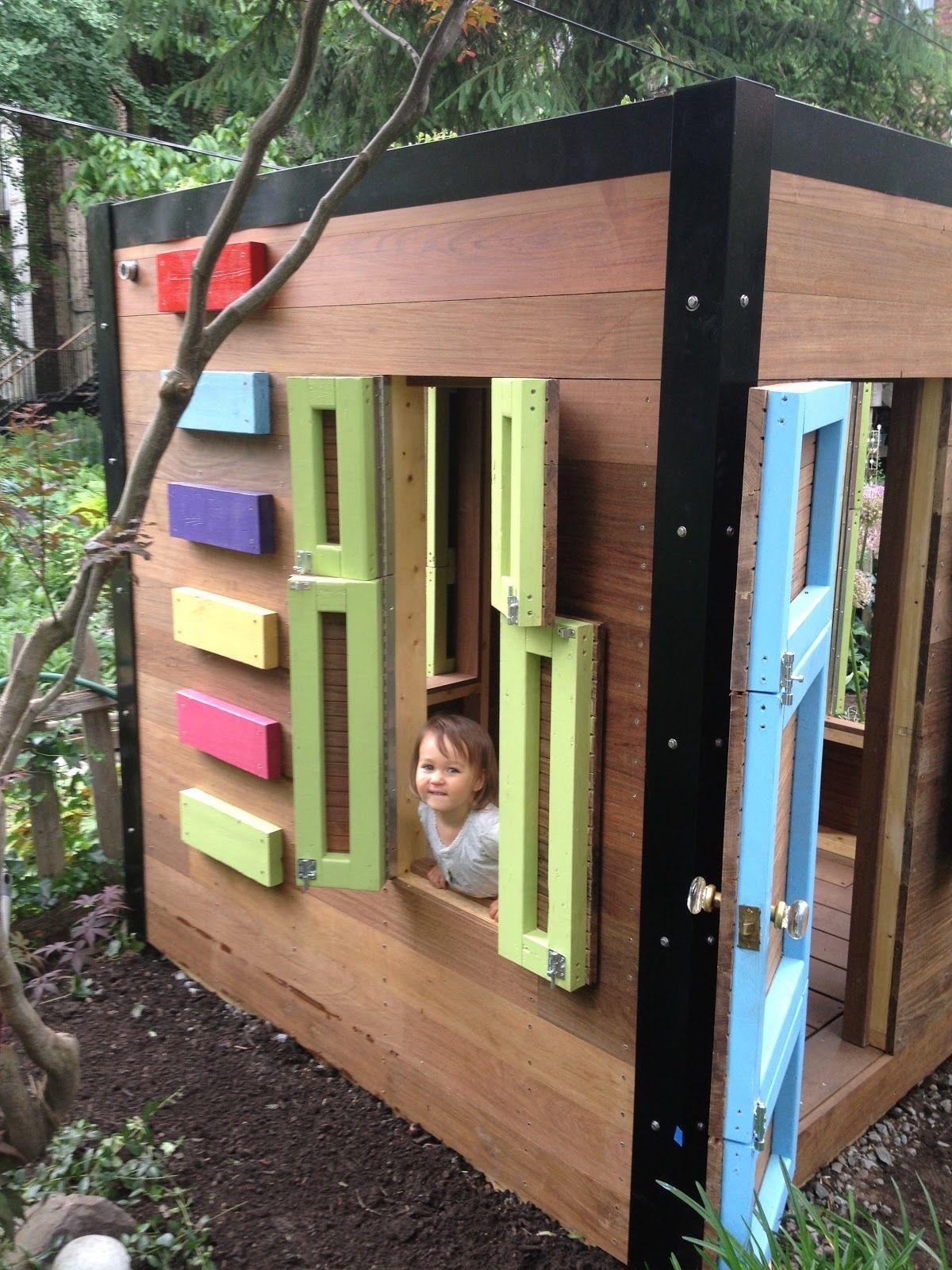spielhaus f r den garten selber bauen diy anleitung garten play houses build a playhouse. Black Bedroom Furniture Sets. Home Design Ideas