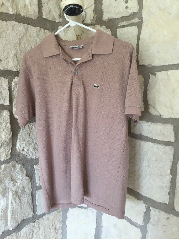 Lacoste La Chemise Mens Vintage Polo Shirt Slim Fit Short Sleeves Size L Coffee Fashion Clothing Shoes Accessorie Shirts Vintage Polo Shirt Slim Fit Shorts