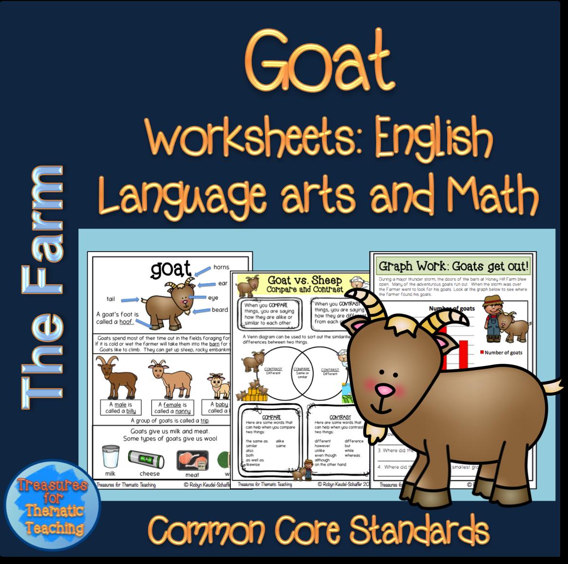 Farm Theme Goat Pack Reading Writing Language And Math