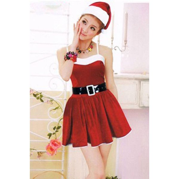 Womens Pretty Sleeveless Christmas Santa Claus Costume Red ($23) ? liked on Polyvore featuring  sc 1 st  Pinterest & Womens Pretty Sleeveless Christmas Santa Claus Costume Red ($23 ...