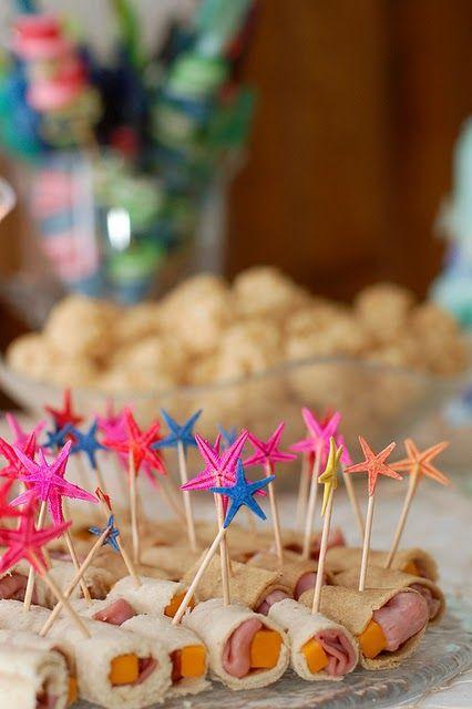 Snacks saludables para fiestas infantiles comida para for Ideas para cumpleanos en piscina
